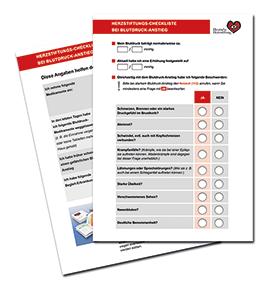 Blutdruck Anstieg Checkliste