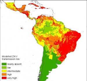 Karten zum Zika-Infektionsrisiko