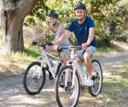 Helm auf beim Fahrradfahren