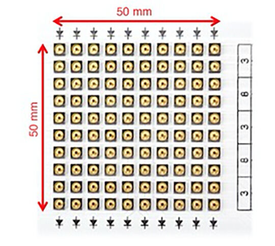 Abbildung 1: UVC LED Anordnung